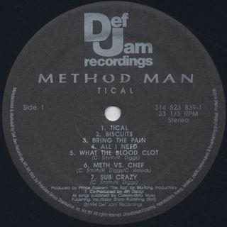 Method Man / Tical label