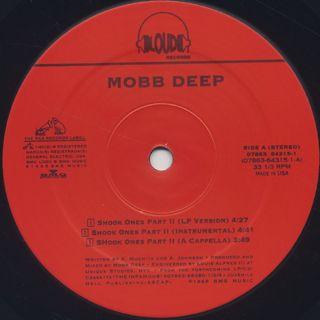 Mobb Deep / Shook Ones Part 2 c/w Shook Ones Part 1 label