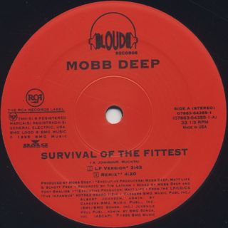Mobb Deep / Survival Of The Fittest label