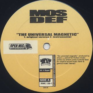 Mos Def / Universal Magnetic label