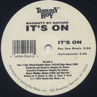 Naughty By Nature / It's On label