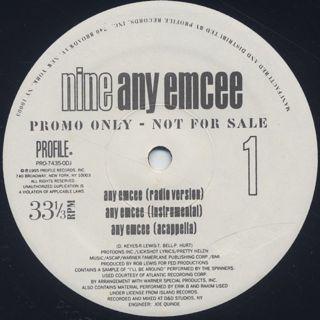Nine / Any Emcee back