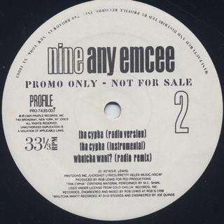 Nine / Any Emcee label