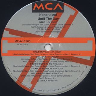 Nonchalant / Until The Day label