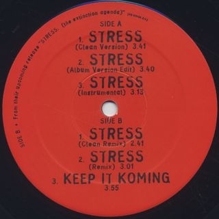 Organized Konfusion / Stress c/w Remix / Keep It Koming label