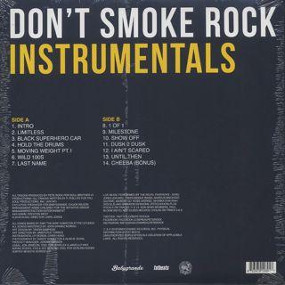 Smoke DZA x Pete Rock / Don't Smoke Rock Instrumentals back
