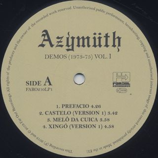 Azymuth / Demos (1973-75) Vol.1 label