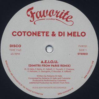 Cotonete & Di Melo / A.E.I.O.U. back