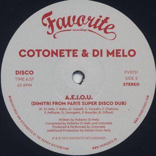 Cotonete & Di Melo / A.E.I.O.U. label