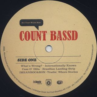 Count Bass D / Act Your Waist Size. label