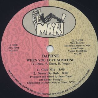 Daphne / When You Love Someone front