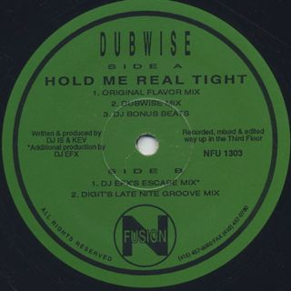 Dubwise / Hold Me Real Tight back