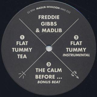 Freddie Gibbs & Madlib / Flat Tummy Tea label