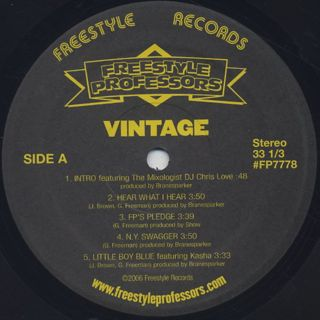 Freestyle Professors / Vintage The EP label