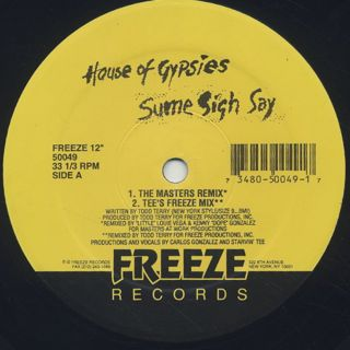 House Of Gypsies / Sume Sigh Say back