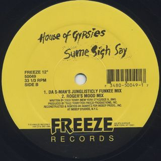 House Of Gypsies / Sume Sigh Say label