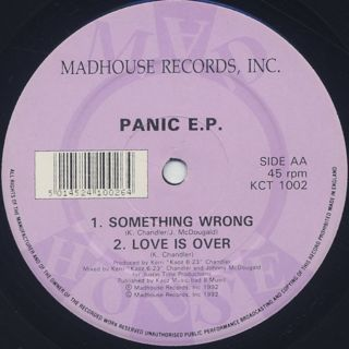 Kerri Chandler / Panic E.P. label
