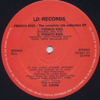 Lil Louis / French Kiss (The Complete Mix Collection E.P.) label