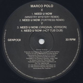 Marco Polo / Need U Now Remix EP back