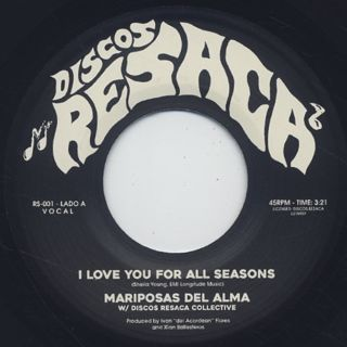 Mariposas Del Alma / I Love You For All Seasons label