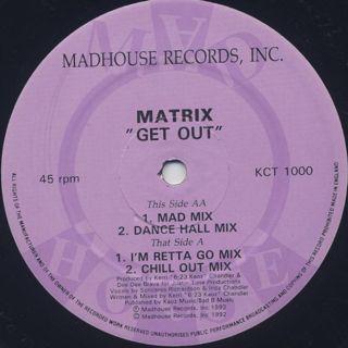 Matrix / Get Out back