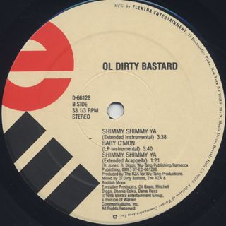 Ol' Dirty Bastard / Shimmy Shimmy Ya label