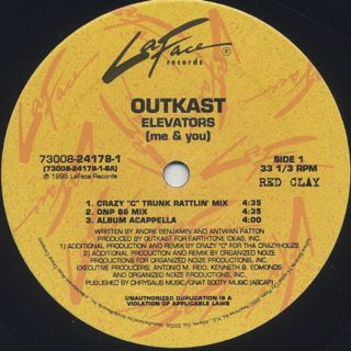 Outkast / Elevators (Me & You) label