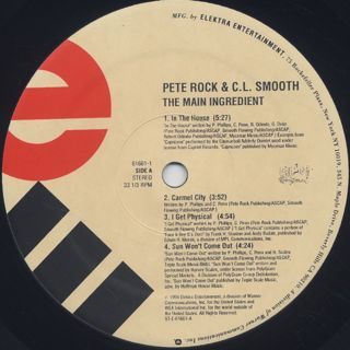 Pete Rock & C.L. Smooth / The Main Ingredient label
