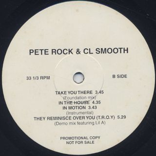 Pete Rock & CL Smooth / Never Coming Out back