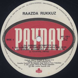 Raazda Rukkuz / Da Chronic Asthmatics label