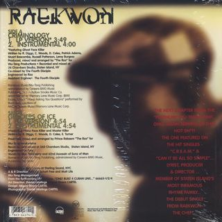 Raekwon / Criminology back