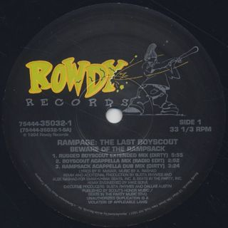 Rampage / Beware Of The Rampsack (Remix) label