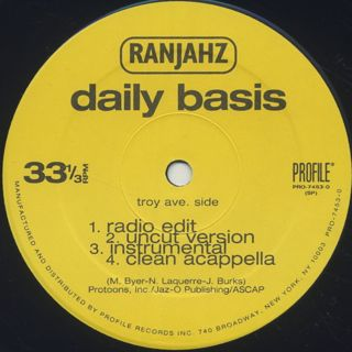 Ranjahz / Daily Basis label