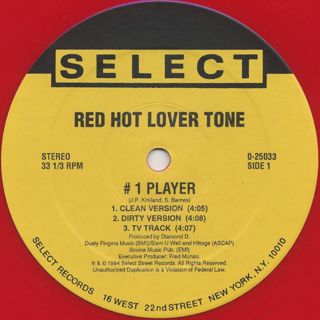 Red Hot Lover Tone / #1 Player label