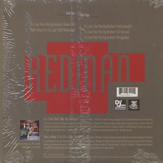 Redman / It's Like That (My Big Brother) back