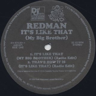 Redman / It's Like That (My Big Brother) label