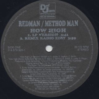 Redman & Method Man / How High label
