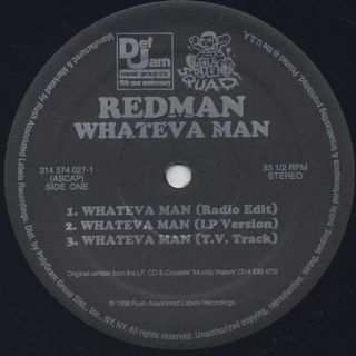 Redman / Whateva Man label