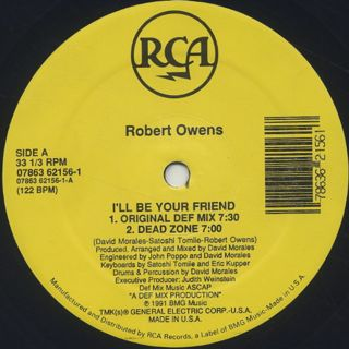 Robert Owens / I'll Be Your Friend back