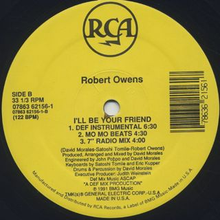 Robert Owens / I'll Be Your Friend label