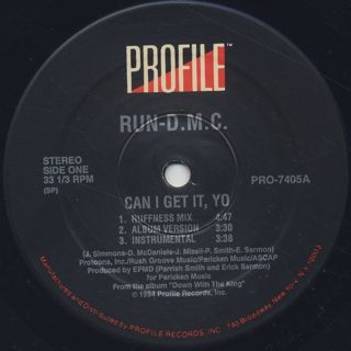 Run DMC / Can I Get It, Yo label