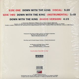 Run DMC / Down With The King back