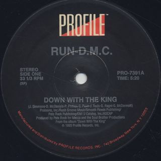 Run DMC / Down With The King label