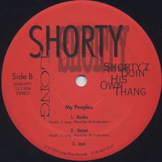 Shorty Long / Shorty'z Doin' His Own Thang back