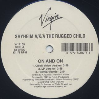 Shyheim A/K/A The Rugged Child / On And On