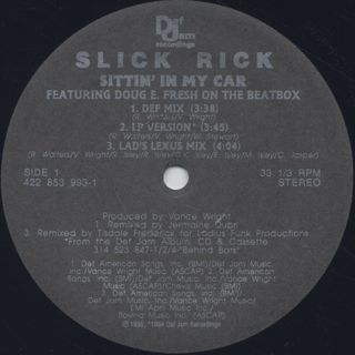Slick Rick / Sittin' In My Car label