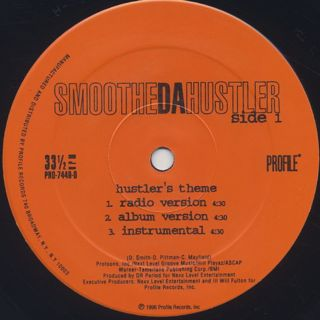 Smoothe Da Hustler / Hustler's Theme label