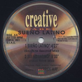 Sueño Latino / Sueño Latino (Derrick May Remixes) label