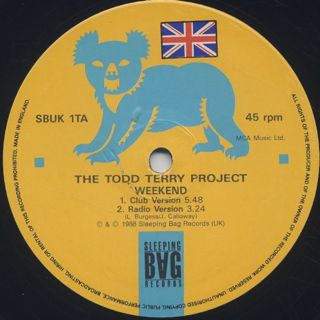 Todd Terry Project / Weekend label