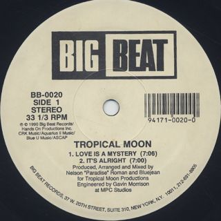 Tropical Moon / Love Is A Mystery back